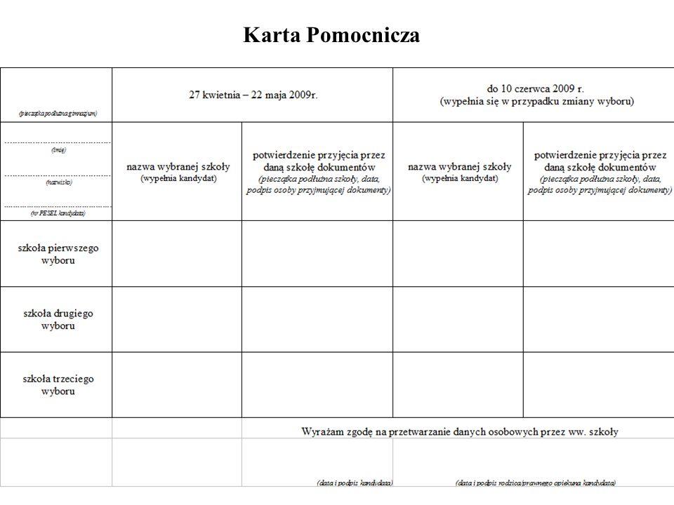 Karta Pomocnicza