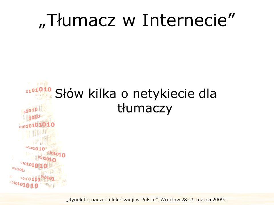 """""""Tłumacz w Internecie"""