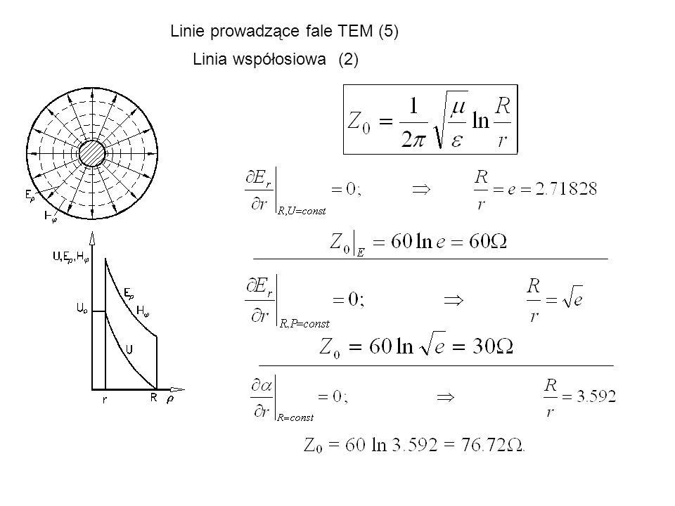 Linie prowadzące fale TEM (5)