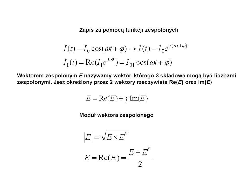 Zapis za pomocą funkcji zespolonych