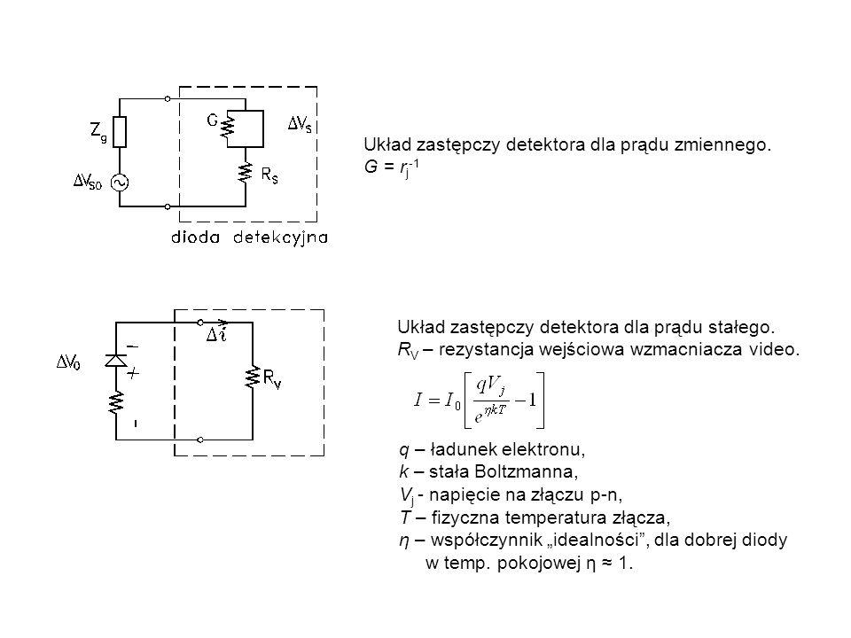 Układ zastępczy detektora dla prądu zmiennego.