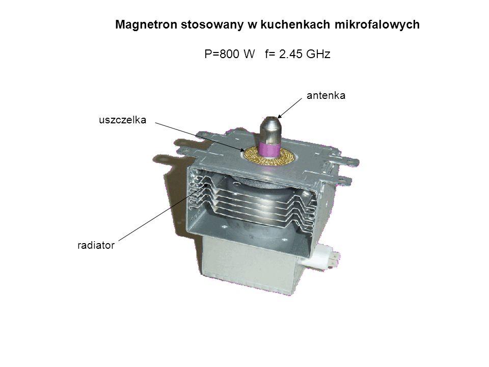 Magnetron stosowany w kuchenkach mikrofalowych