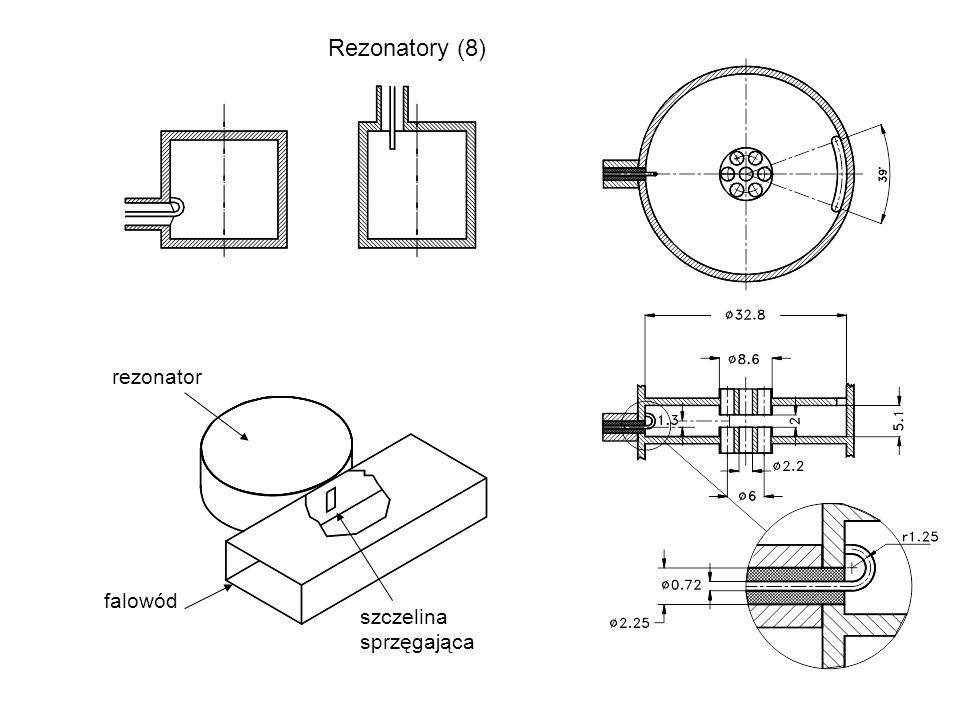 Rezonatory (8) rezonator falowód szczelina sprzęgająca