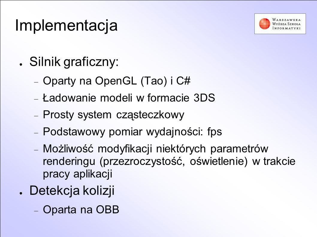 Implementacja Silnik graficzny: Detekcja kolizji