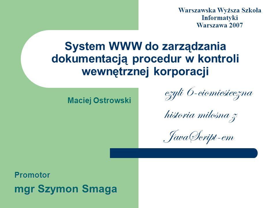 Warszawska Wyższa Szkoła Informatyki Warszawa 2007