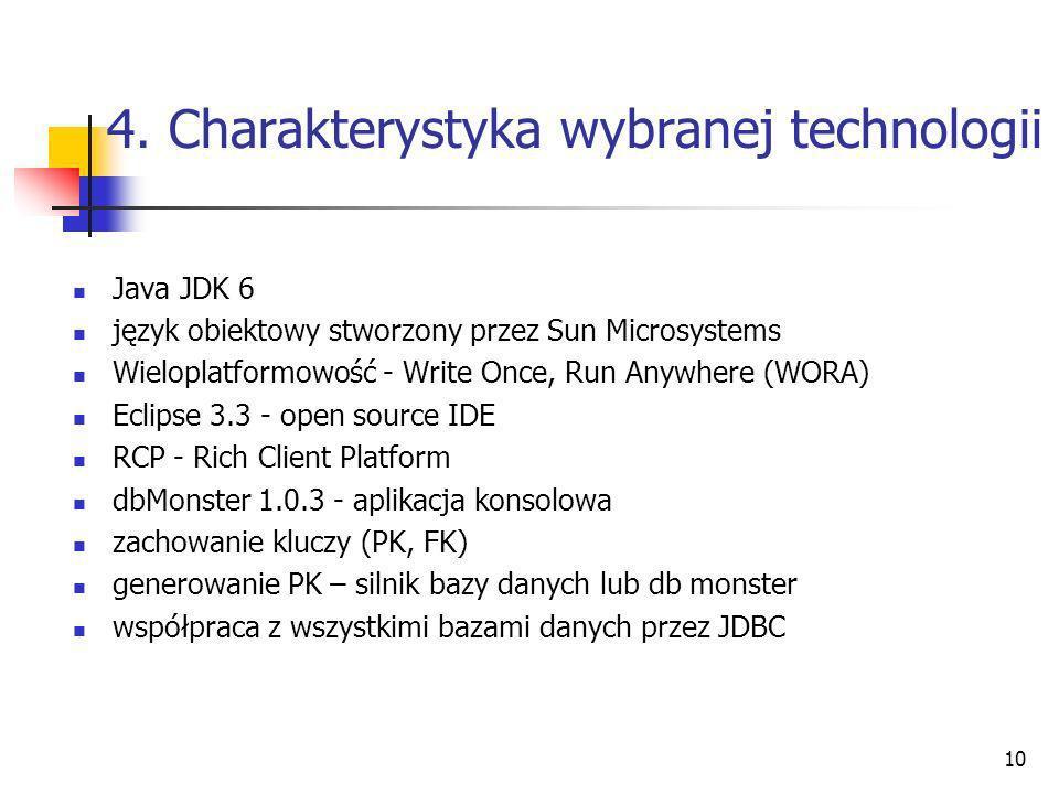 4. Charakterystyka wybranej technologii