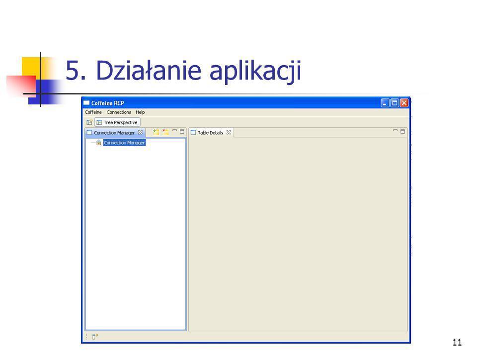 5. Działanie aplikacji