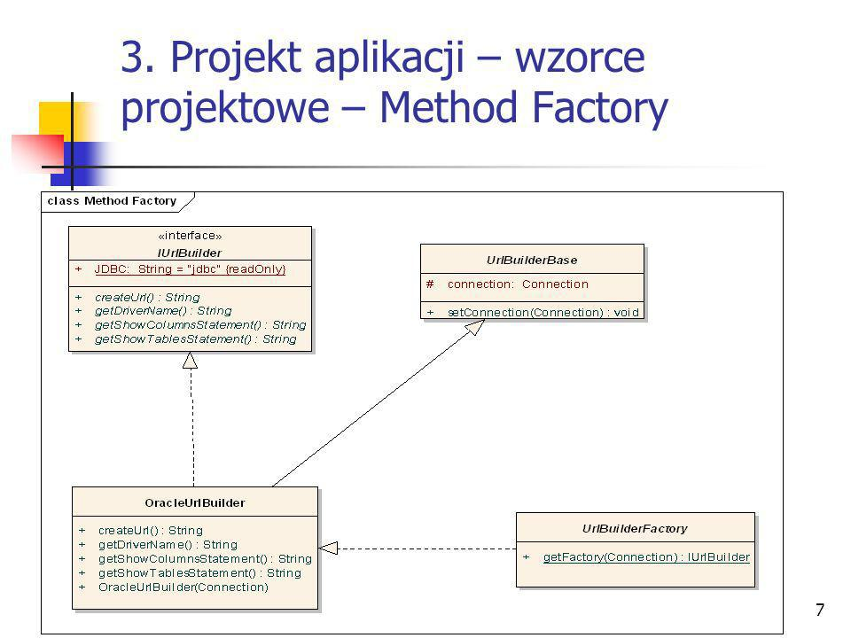 3. Projekt aplikacji – wzorce projektowe – Method Factory