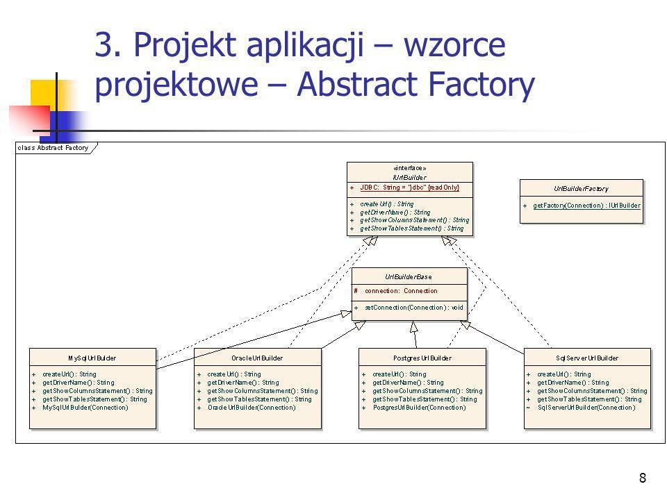 3. Projekt aplikacji – wzorce projektowe – Abstract Factory