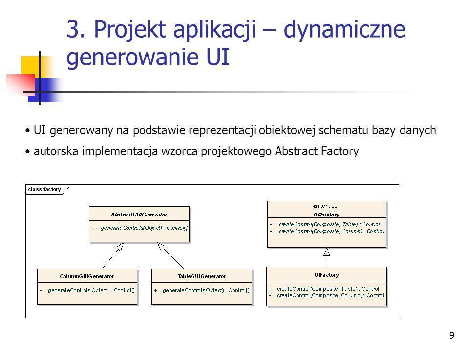 3. Projekt aplikacji – dynamiczne generowanie UI