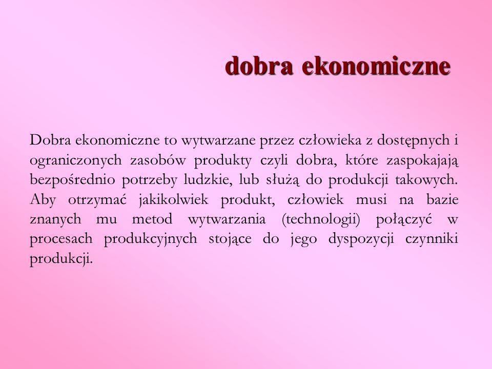 dobra ekonomiczne