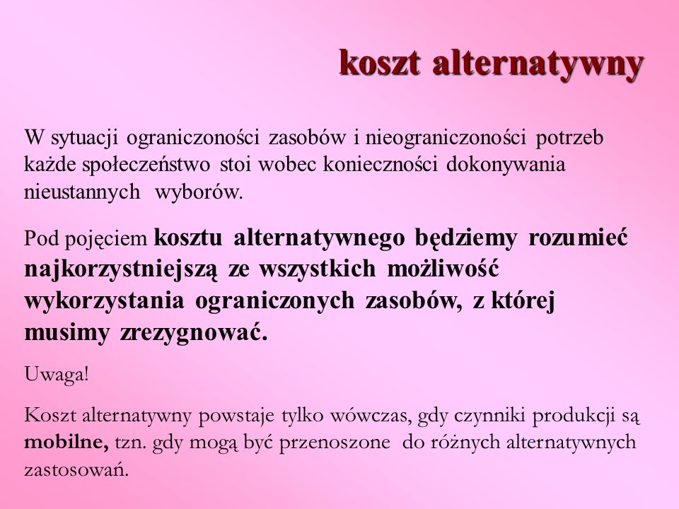 koszt alternatywny