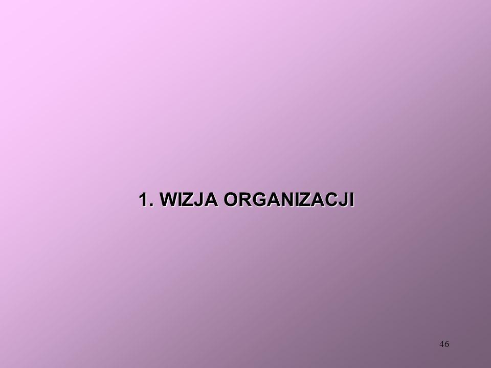 1. WIZJA ORGANIZACJI