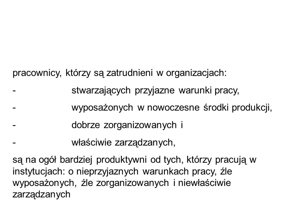 pracownicy, którzy są zatrudnieni w organizacjach: