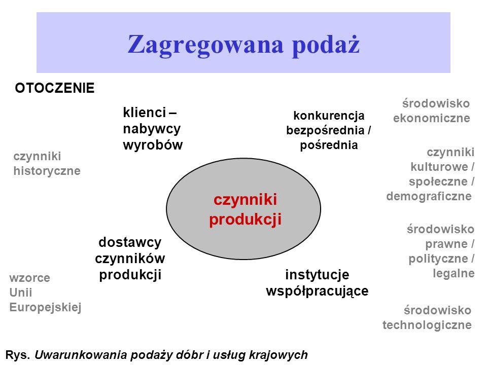 dostawcy czynników produkcji instytucje współpracujące