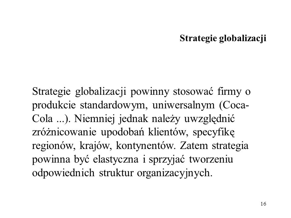 Strategie globalizacji