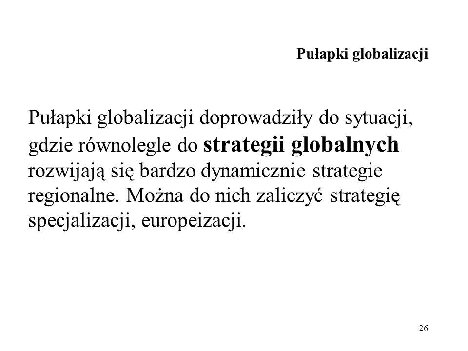 Pułapki globalizacji
