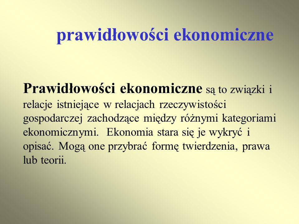 prawidłowości ekonomiczne