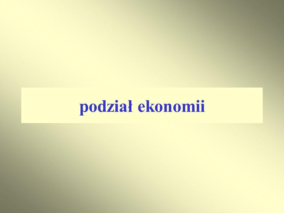 podział ekonomii