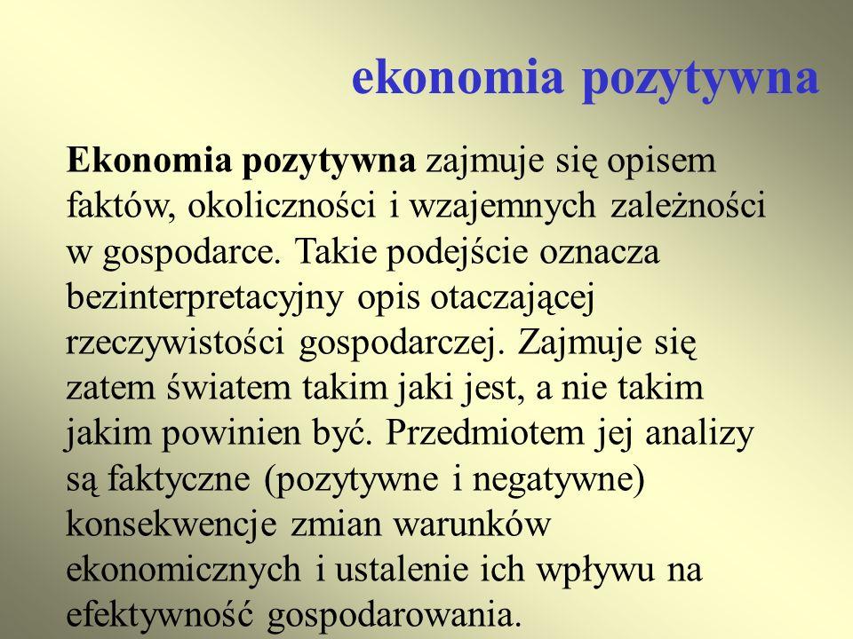 ekonomia pozytywna