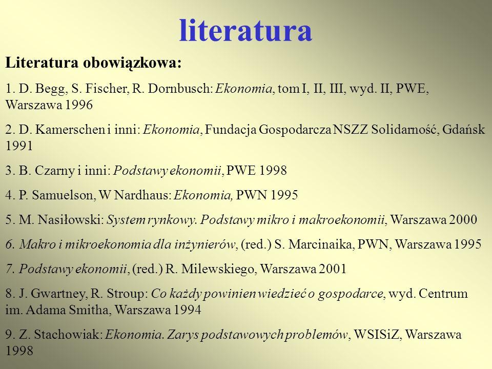 literatura Literatura obowiązkowa:
