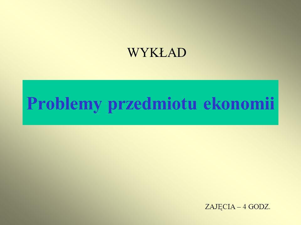 Problemy przedmiotu ekonomii