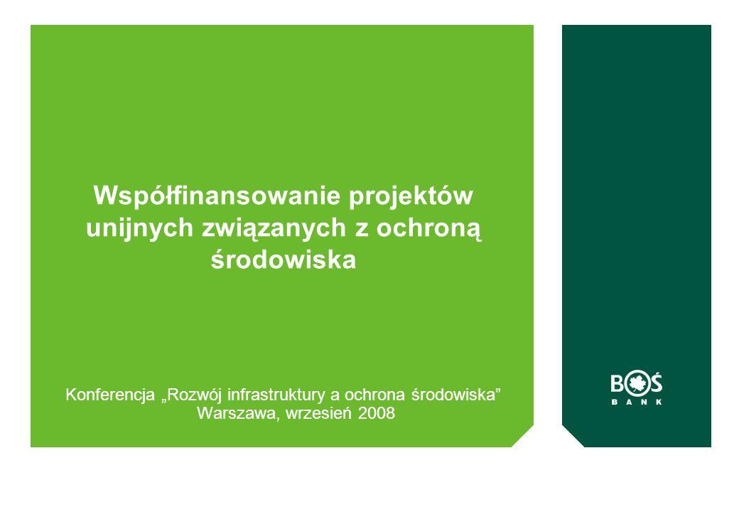 Współfinansowanie projektów unijnych związanych z ochroną środowiska