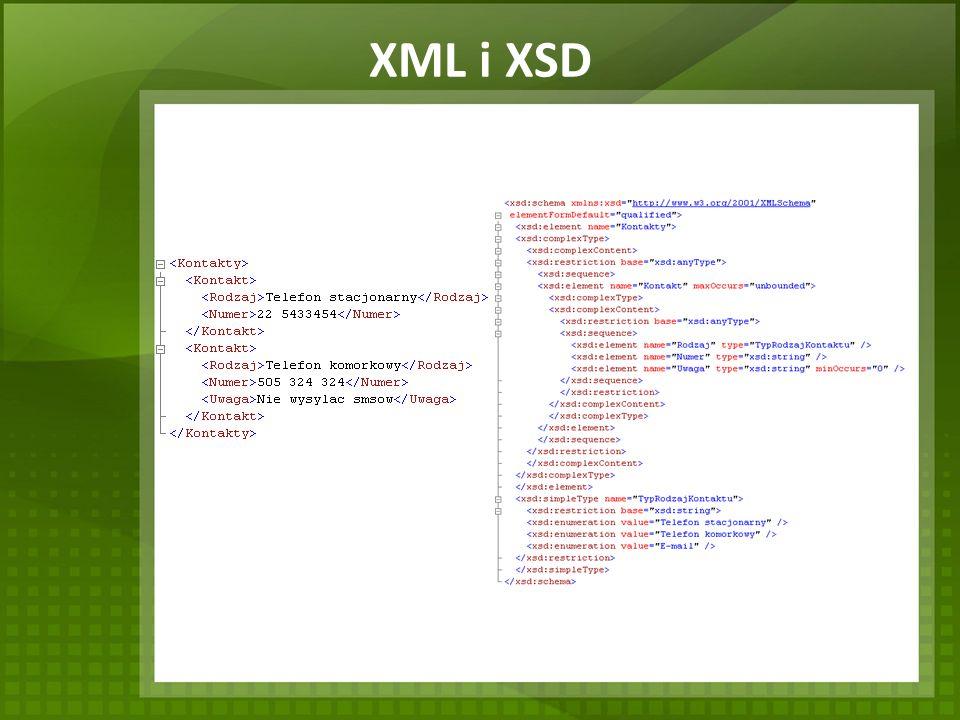 XML i XSD