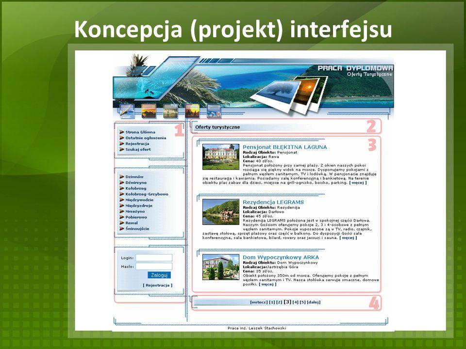Koncepcja (projekt) interfejsu