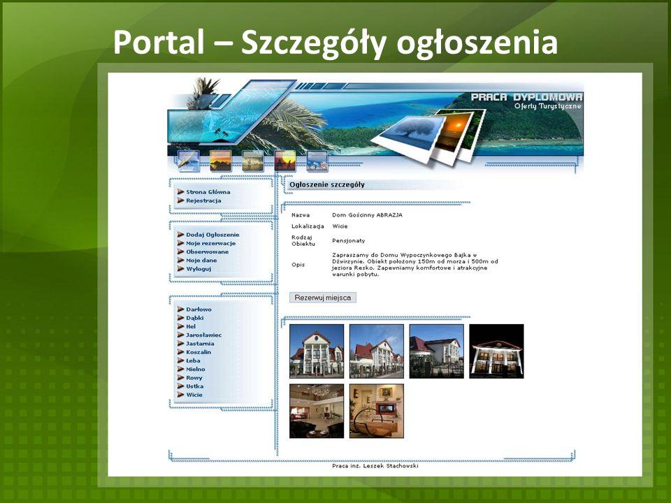 Portal – Szczegóły ogłoszenia