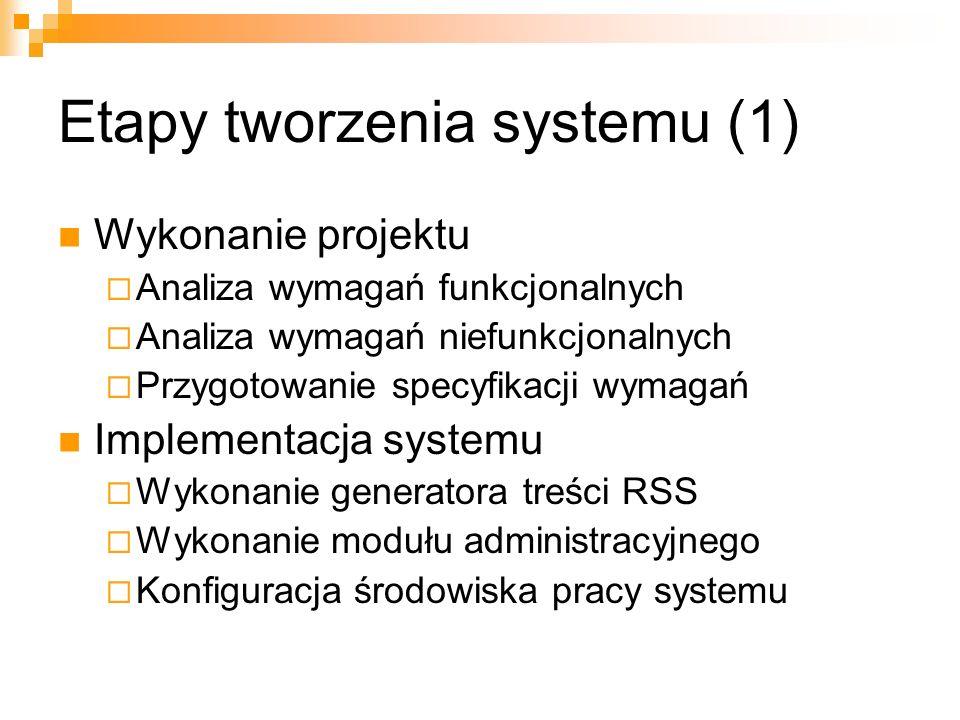 Etapy tworzenia systemu (1)