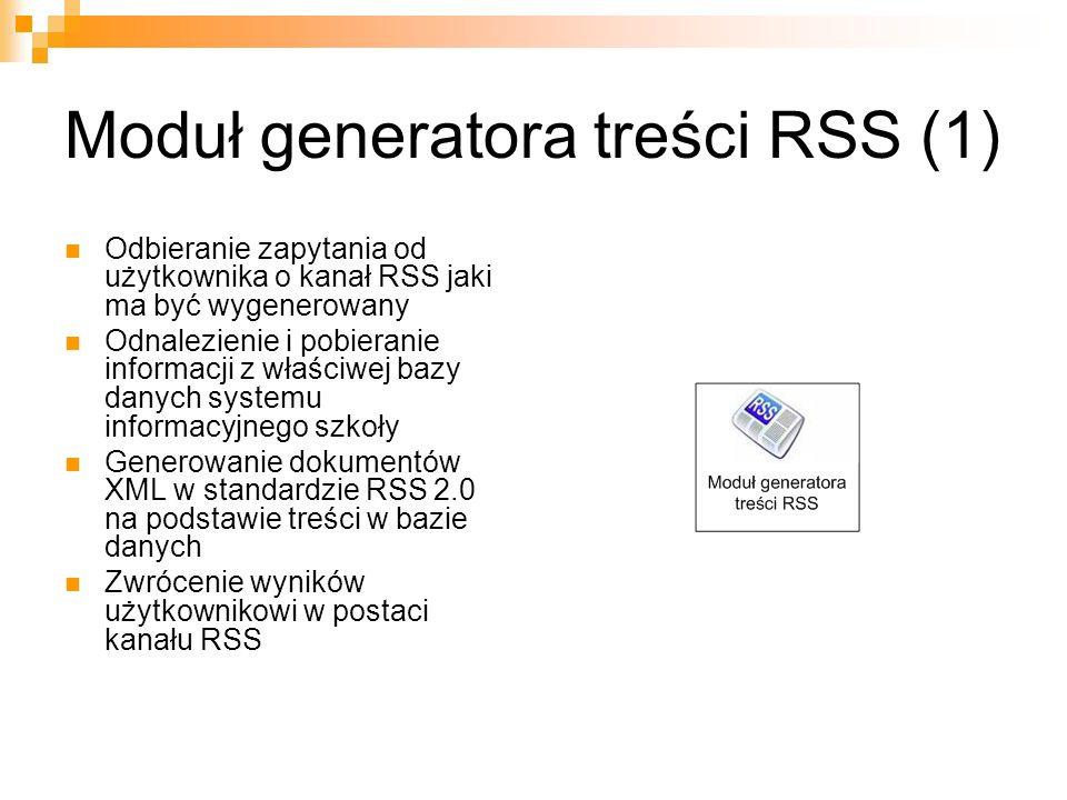 Moduł generatora treści RSS (1)