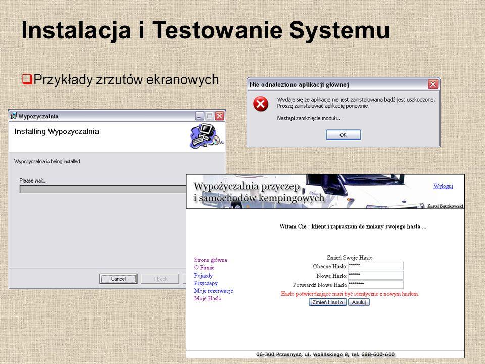 Instalacja i Testowanie Systemu