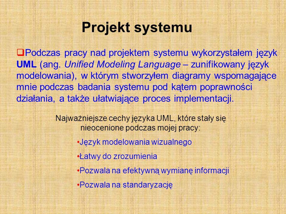 Projekt systemu