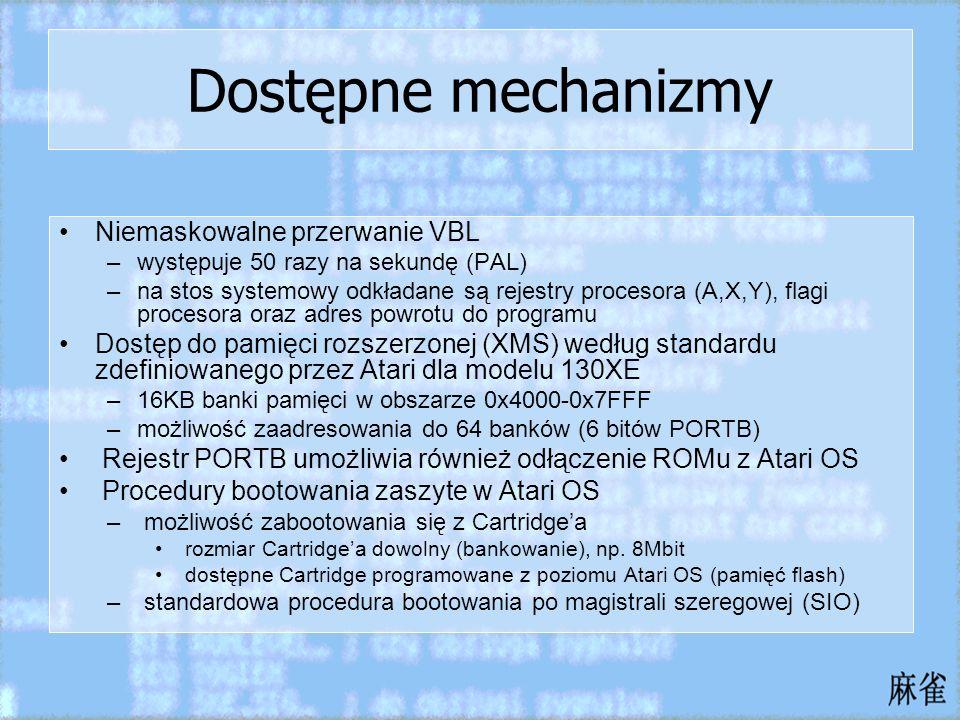 Dostępne mechanizmy Niemaskowalne przerwanie VBL