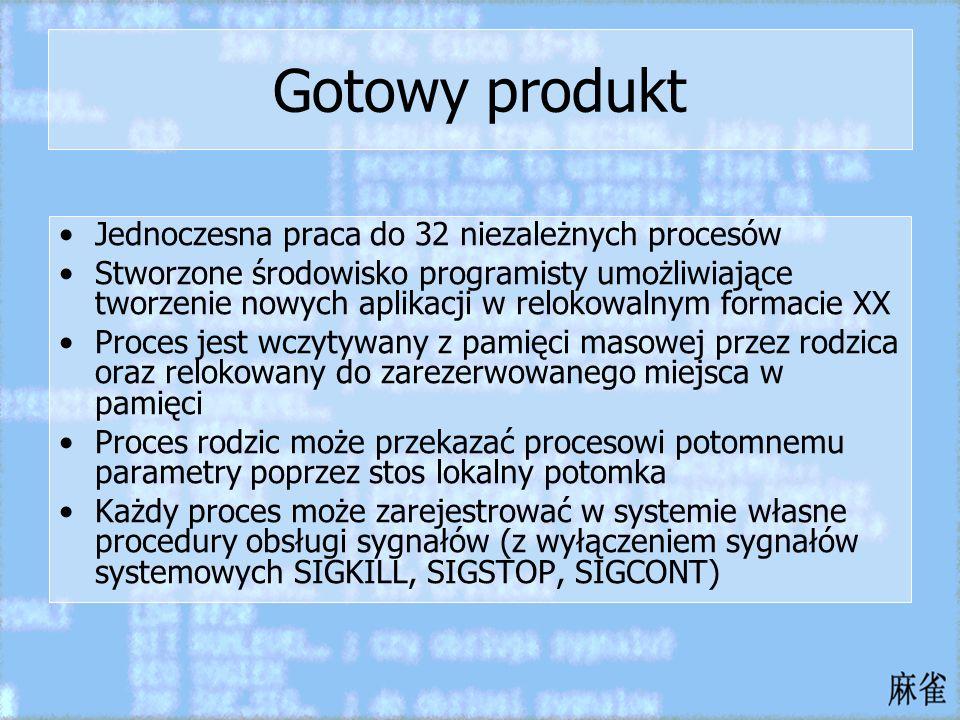 Gotowy produkt Jednoczesna praca do 32 niezależnych procesów