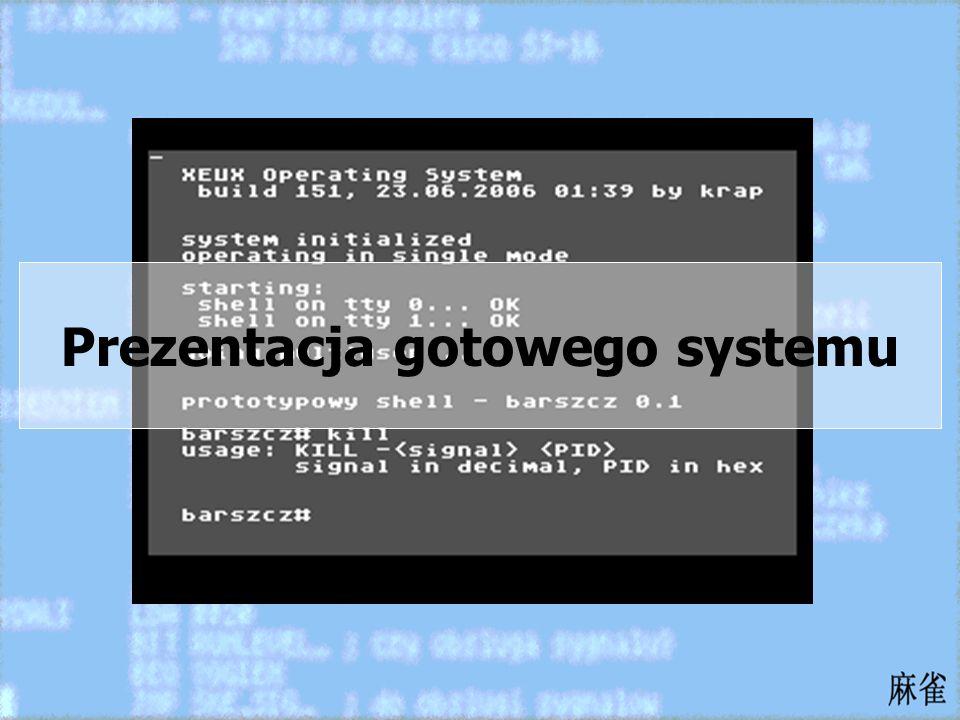 Prezentacja gotowego systemu