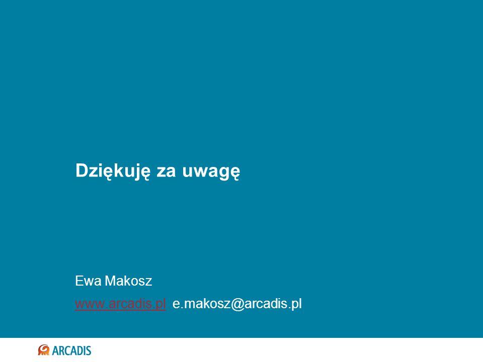 Dziękuję za uwagę Ewa Makosz www.arcadis.pl e.makosz@arcadis.pl