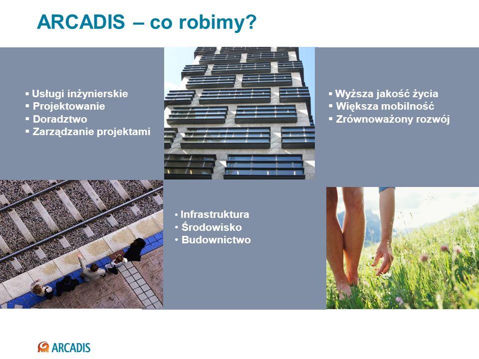 ARCADIS – co robimy Projektowanie Doradztwo Zarządzanie projektami