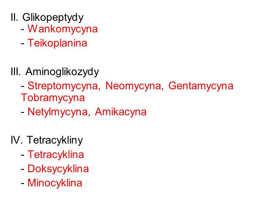 II. Glikopeptydy - Wankomycyna