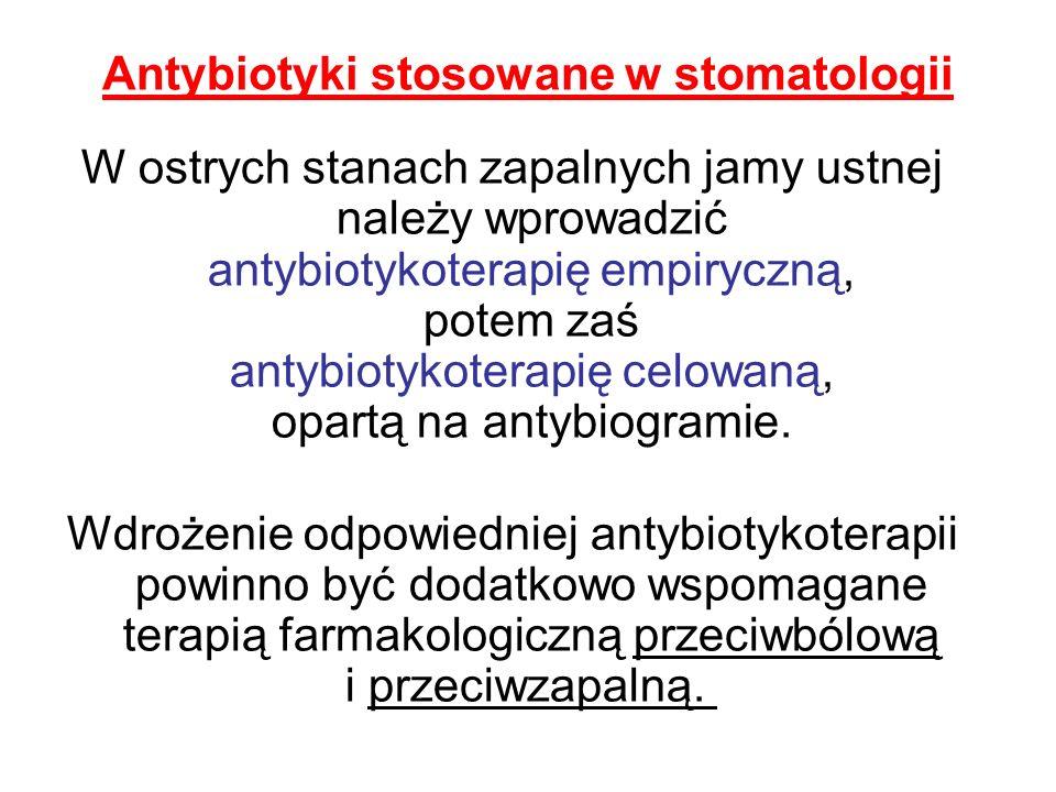 Antybiotyki stosowane w stomatologii