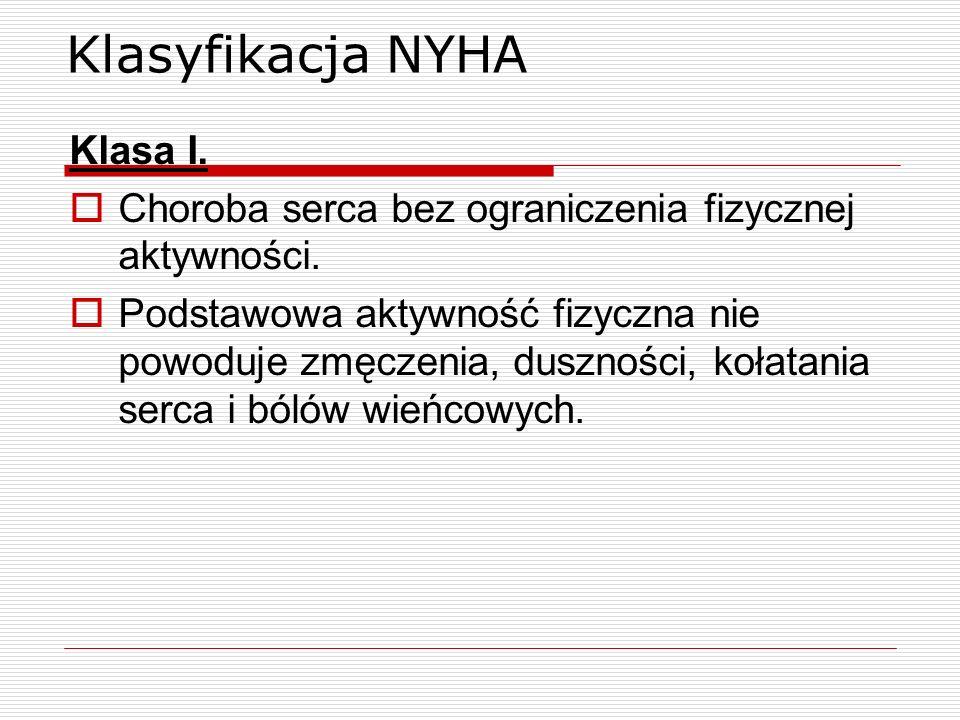 Klasyfikacja NYHA Klasa I.