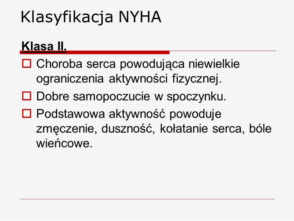Klasyfikacja NYHA Klasa II.