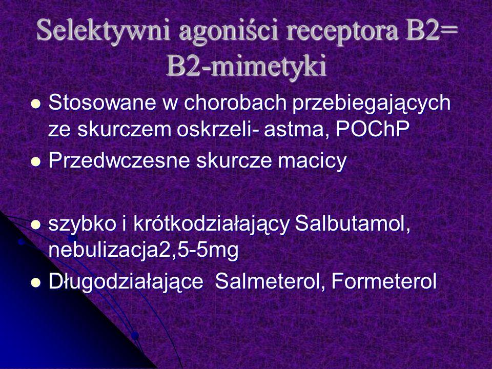 Selektywni agoniści receptora Β2= Β2-mimetyki