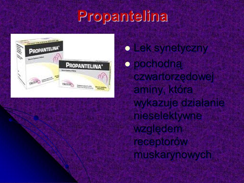 Propantelina Lek synetyczny