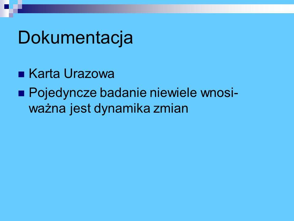 Dokumentacja Karta Urazowa