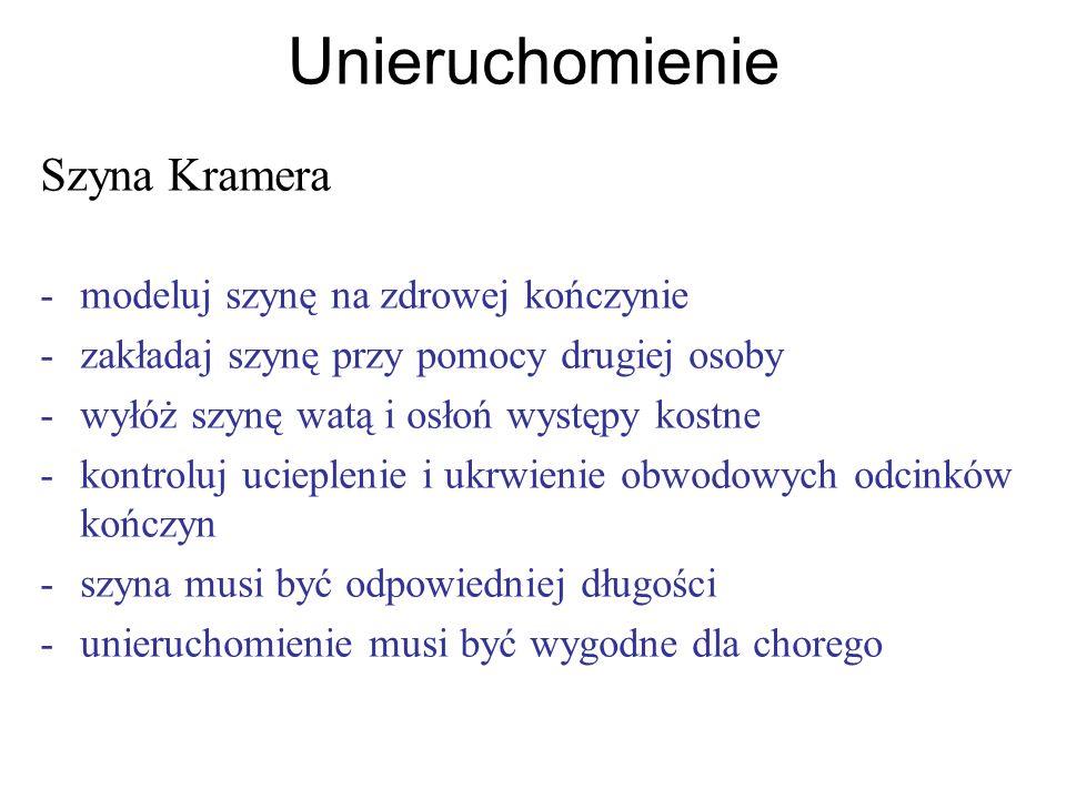 Unieruchomienie Szyna Kramera - modeluj szynę na zdrowej kończynie