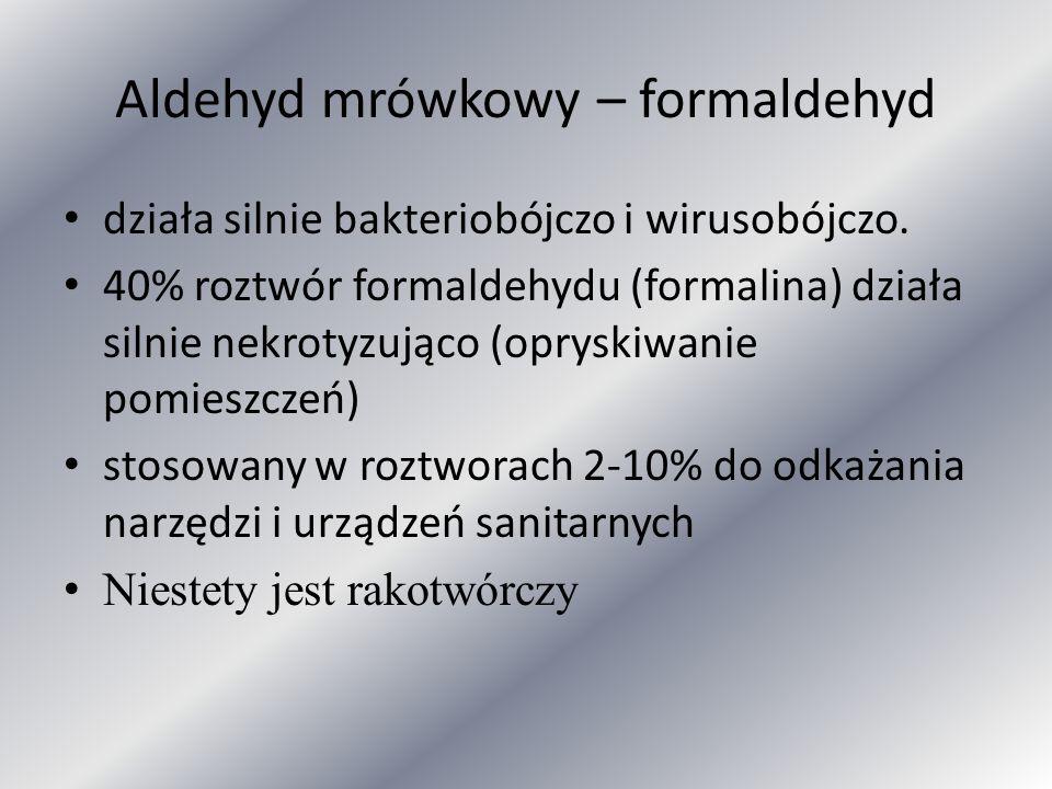 Aldehyd mrówkowy – formaldehyd