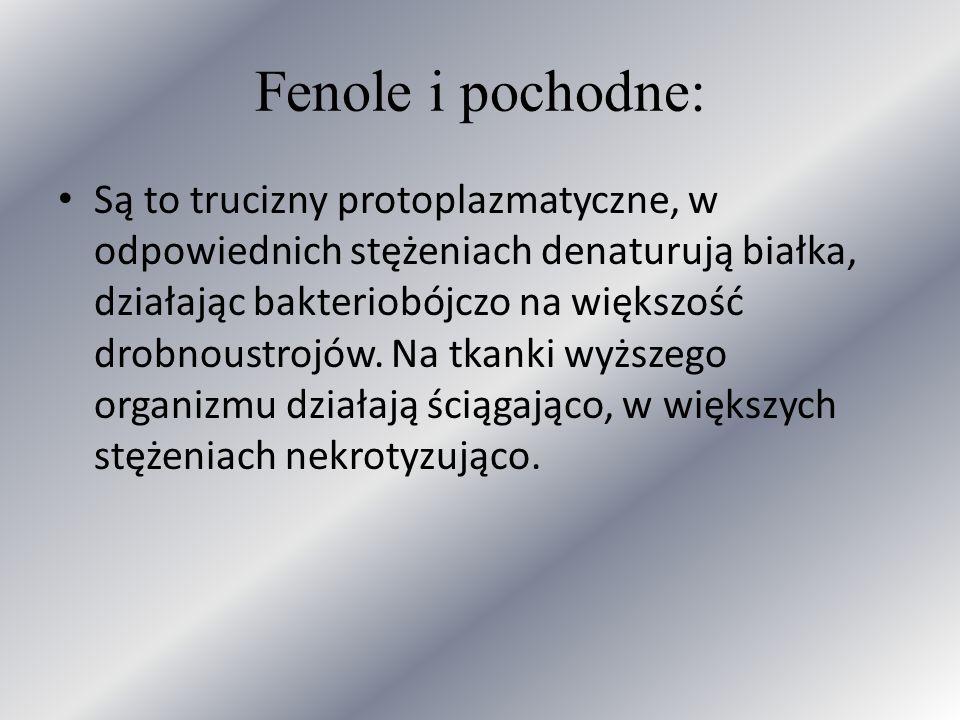 Fenole i pochodne: