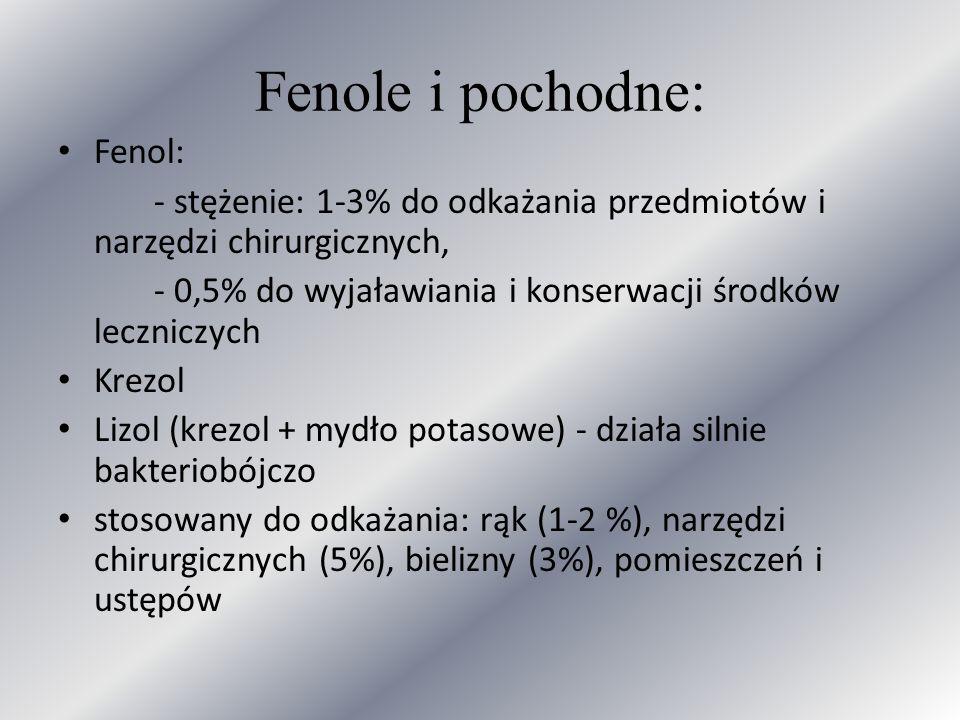 Fenole i pochodne: Fenol: